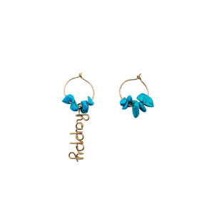 Mini Créoles Happy Gold Filled Turquoise