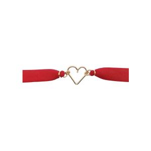 Bracelet Ruban Rouge Cœur Gold Filled