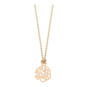 Collier Monogramme NGY Mini Or Rose