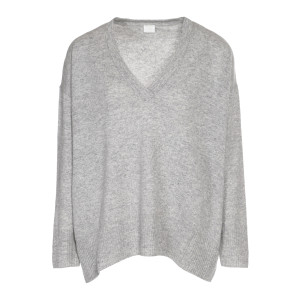 Pull Cachemire Long Gris Clair