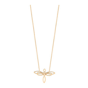 Collier Mini Dragonfly Or Rose