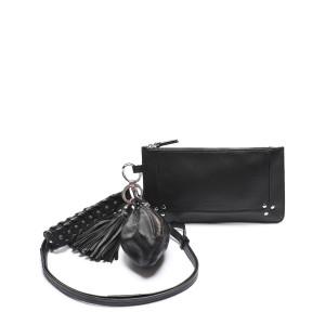 Porte-clés Jitoumi Agneau Vachette Noir Silver