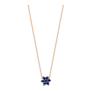 Collier Mini Star Saphirs Or Rose