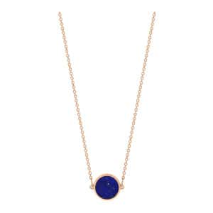 Collier Ever Mini Disc Or Rose Lapis Lazuli