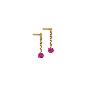 Boucles d'oreilles Confetti Rubis Or Rose