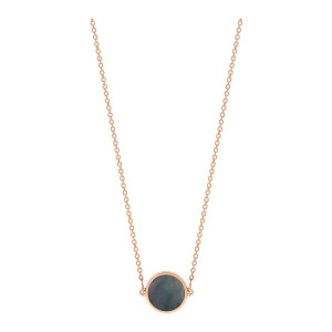 Collier Ever Mini Black Mop Disc Or Rose