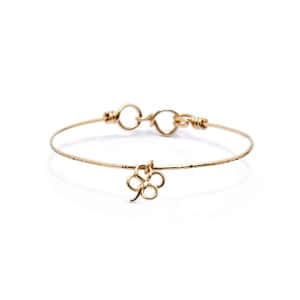 Bracelet Charm Exclu Lulli Nude Martelé Gold Filled
