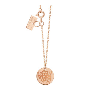Collier Girl Power Or Rose, Exclusivité Lulli