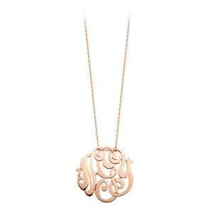 Collier Monogramme NGY MM Or Rose