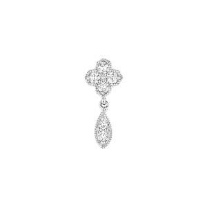 Boucle d'oreille Bouton Fleurs du Mal Diamants (vendue à l'unité)