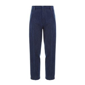 Pantalon Coton Denim Indigo