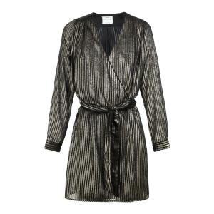 Robe Laminated Ceinturée Noir