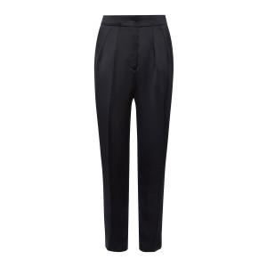Pantalon Taille Haute Satin Noir