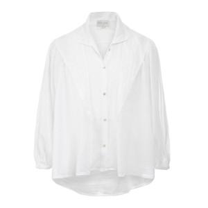 Chemise Bohemian Coton Soie Blanc