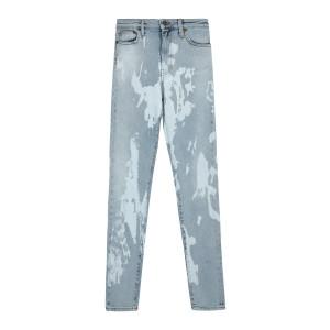 Jean Tie And Dye Coton Denim Bleu
