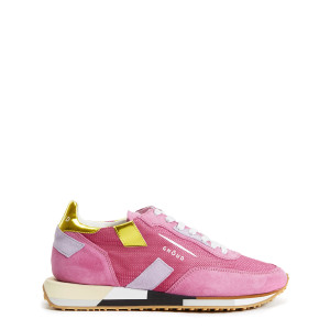 Baskets Running Cuir Multi Rush Fushia Jaune