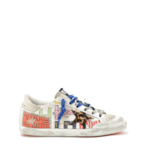 Baskets Homme Superstar Canvas Cuir Multicolore Horsy Léopard
