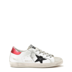 Baskets Superstar Cuir Rouge Noir