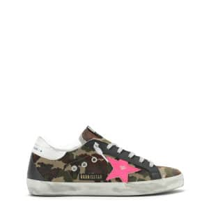 Baskets Superstar Cuir Camouflage Fushia Fluo