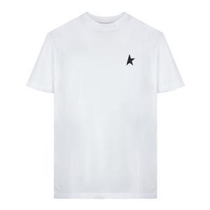 Tee-shirt Homme Golden Étoile Coton Blanc