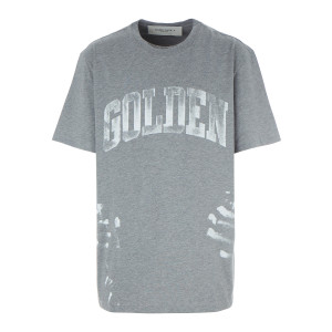 Tee-shirt Homme Golden Coton Gris