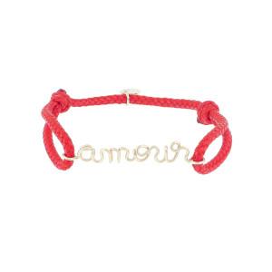 Bracelet Cordon Ciré Amour Gold Filled