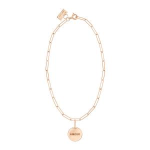 Bracelet Shaman Talisman Amour Or Rose