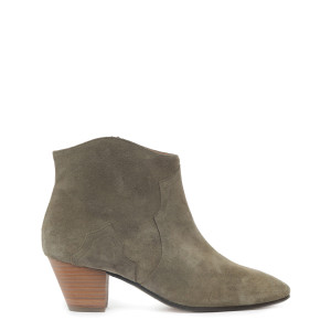 Bottines Dicker Veau Velours Taupe
