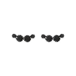 Boucles d'oreilles A Wild Shore Mini Laiton Noir Argenté
