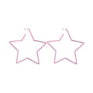 Boucles d'oreilles Star In Love Laiton Fushia