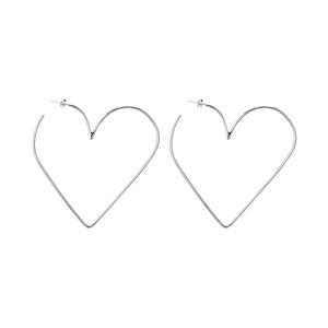 Boucles d'oreilles Heart in Love Laiton Argenté