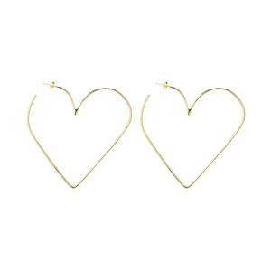 Boucles d'oreilles Heart in Love Laiton Doré