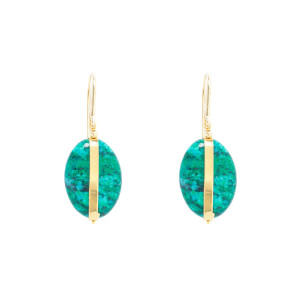 Boucles d'oreilles Stones Laiton Amazone