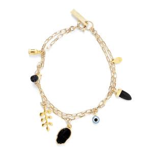 Bracelet New Its All Laiton Buffle Noir