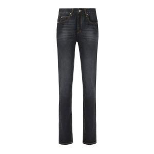 Pantalon Biliana Coton Noir Délavé