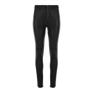 Pantalon Iany Cuir Noir Délavé