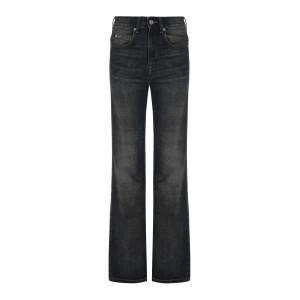 Pantalon Belvira Coton Noir Délavé