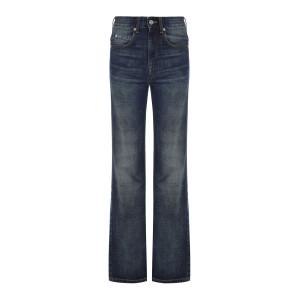Pantalon Belvira Coton Bleu