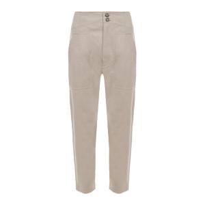 Pantalon Pralunia Coton Beige