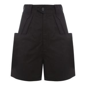 Short Palinoa Coton Noir Délavé