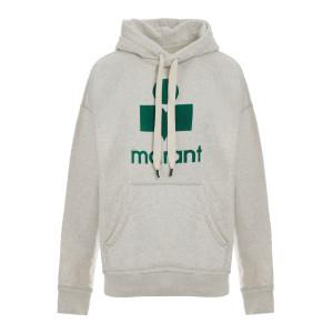 Sweatshirt Hoodie Mansel Coton Vert Écru