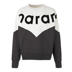 Sweatshirt Houston Coton Noir Délavé