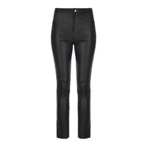 Pantalon Ajuliko Cuir Noir