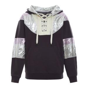 Sweatshirt Minelia Coton Noir Délavé