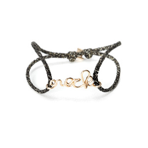 Bracelet Cordon Lurex Rock Gold Filled 14K
