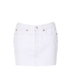 Jupe Fores Coton Blanc