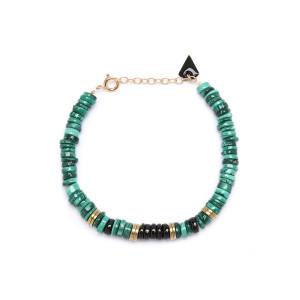 Bracelet Puka M Malachite