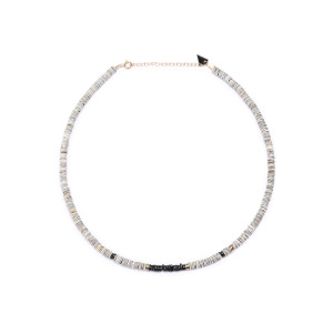 Collier Puka S Coquillage Onyx