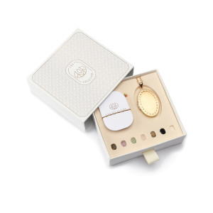 Coffret Moyen Médaillon Mat 7 Pierres de Protection
