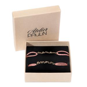 Bracelets Duo Mère-Fille Lurex Rose Gold Filled